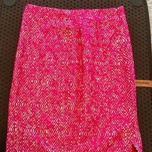 J Crew Size 4 Diamond Pattern Pink/White Skirt
